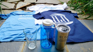 Some of the merchandise sold through the UNC Kenan-Flagler Student Store.