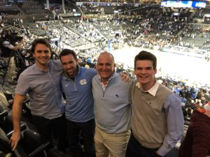 UNC alumni and Mike Griffith of Zoom Up at basketball