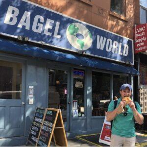 Alex Brandwein Eats Bagel In NYC