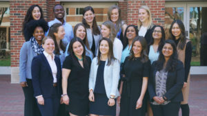 Jermyn Davis Standing With Carolina Women In Business 2019 Student Leadership Team At UNC Kenan-Flagler