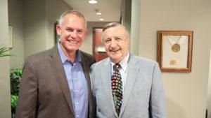 Doug Elvers And Dean Doug Shackelford at UNC Kenan-Flagler