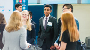 UNC Undergraduate Students At Job Fair