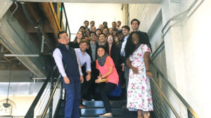 Whitnie Narcisse and Kenan-Flagler MBA Students on steps In San Francisco