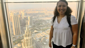 In Burj Khalifa Chelsea Vickers of UNC Kenan-Flagler