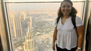 In Burj Khalifa Chelsea Vickers of UNC Kenan-Flagler