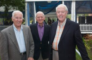 Rollie Tillman with professors Dick Levin and Bob Headen