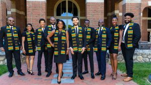 2021 BBSA graduates including Harewood (far right)
