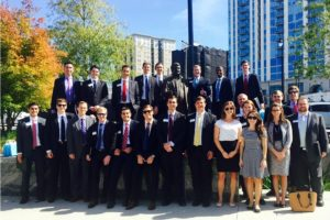 The UNC Kenan-Flagler Business School MBA Real Estate Club on a career trek to Atlanta.