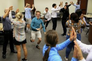 Applied Improv - taught by UNC Kenan-Flagler Business School professor Greg Hohn - isn't your typical b-school class!