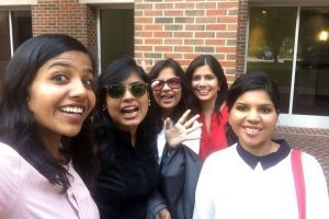 Anita Kannan (MBA '18) poses with some of her UNC Kenan-Flagler classmates - UNC Kenan-Flagler Business School - MBA
