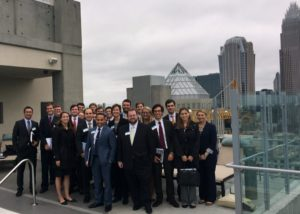 MBA Real Estate students touring Grubb Properties' SkyHouse Uptown project in Charlotte