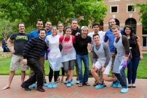 MBA students participate in the Net Impact Club's trash audit - UNC Kenan-Flagler Business School