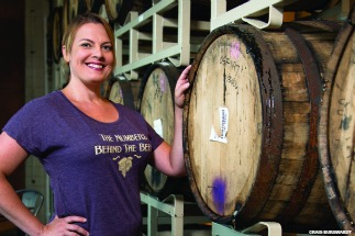 Audra Gaiziunas (OneMBA '08), founder of Brewed For Her Ledger. Photo by Craig Burgwardt.