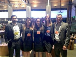 A team of MBA students represents UNC Kenan-Flagler at the Deloitte Case Competition nationals
