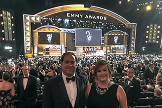 Mary Shelton Rose at Emmy's with her husband