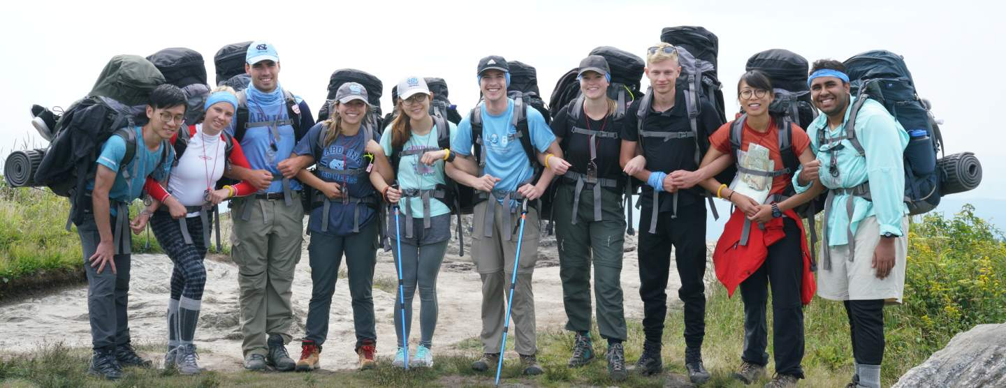 GLOBE Outward Bound group with gear