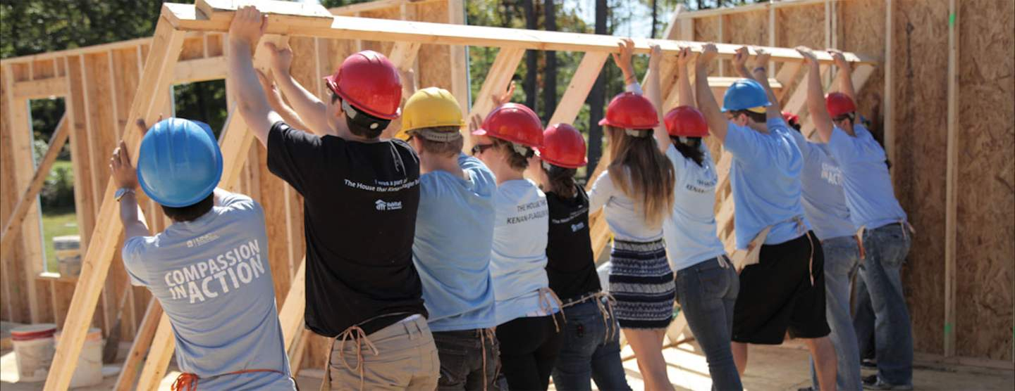 Habitat for Humanity students